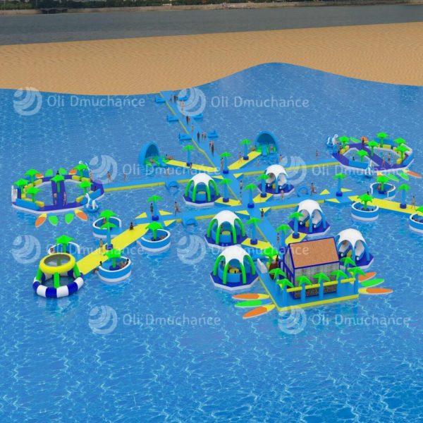 Dmuchany park wodny