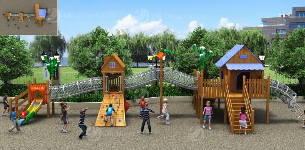 Drewniane place zabaw dla dzieci z atestem