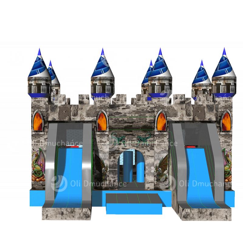 Zjeżdżalnia dmuchana Zamek 2