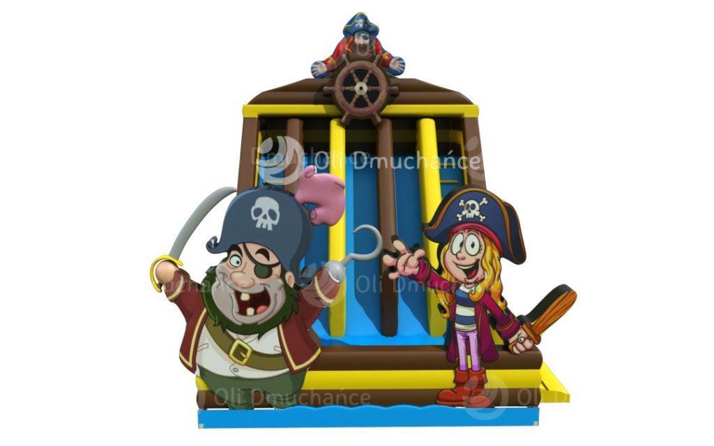 Zjeżdżalnia dmuchana podwójna Pirat