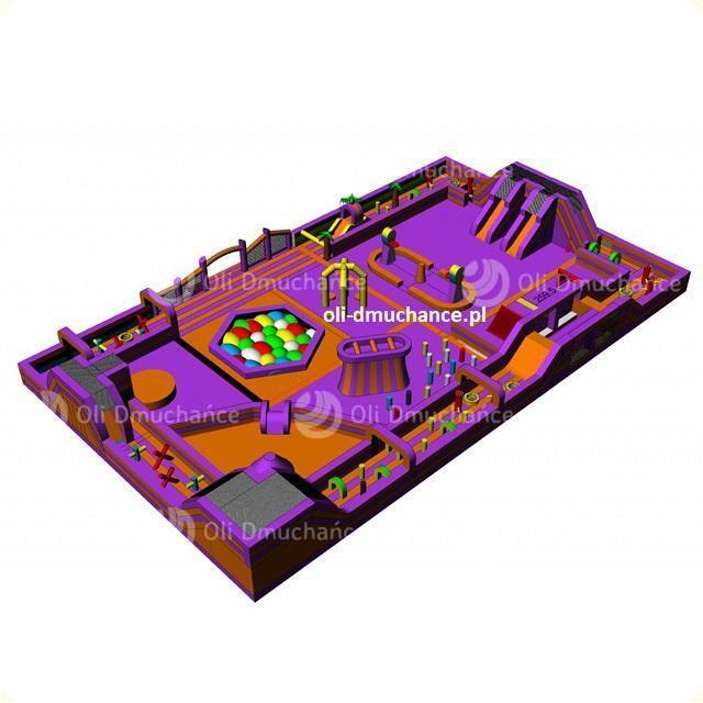 Dmuchany park rozrywki Violet&Orange